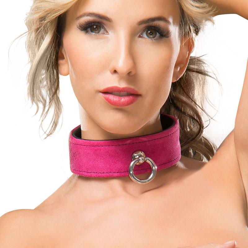 Leder-Halsband mit großem O-Ring kaufen und vergleichen