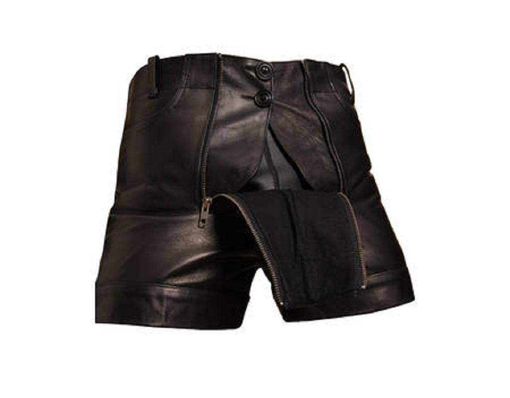 bockle short schwarze leder pants kurze lederhose f r den. Black Bedroom Furniture Sets. Home Design Ideas